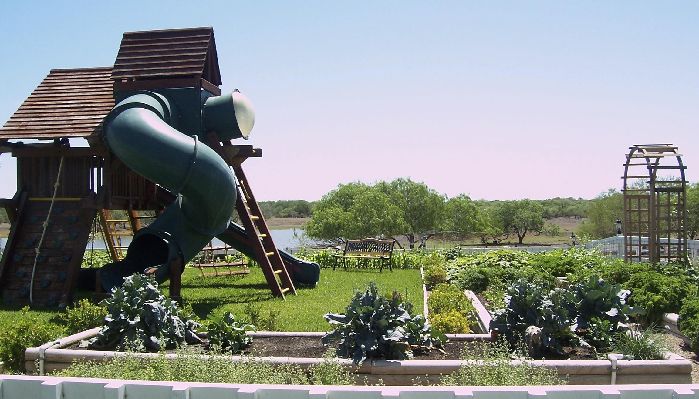 playground and garden