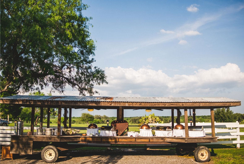 rustic serving wagon