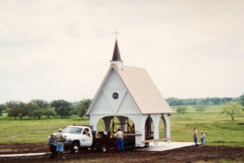 wedding chapel being worked on