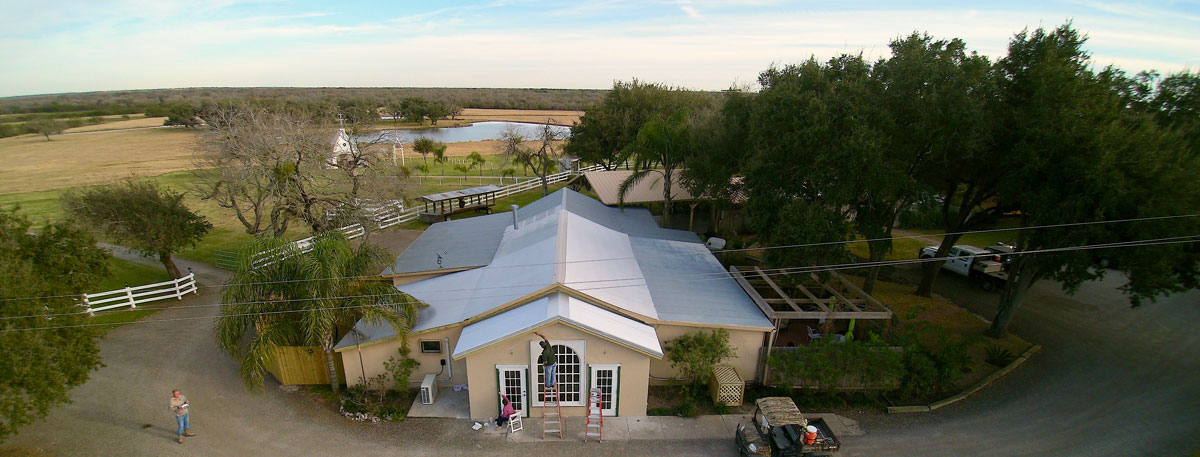 drone image of Knolle Farm & Ranch
