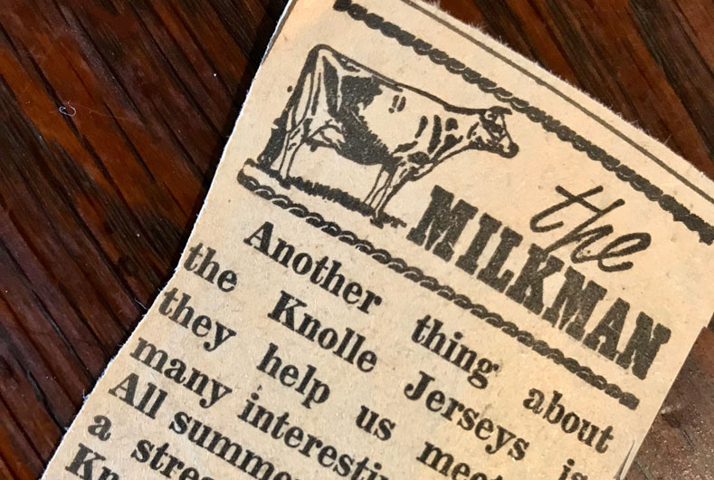 article from the Milkman