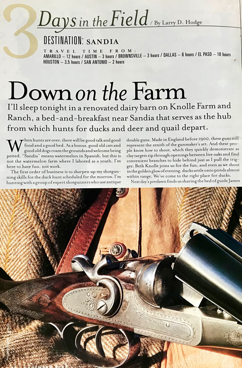 article about Knolle Farm & Ranch titled 3 Days in the Field