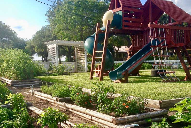 Garden and Playground at Knolle Farm & Ranch